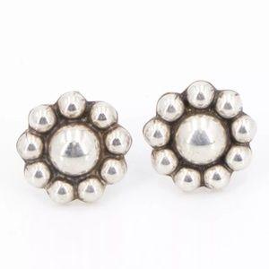 Vintage Sterling Southwestern Flower post earrings